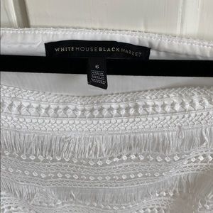 White House Black Market Tops - White off the shoulder top